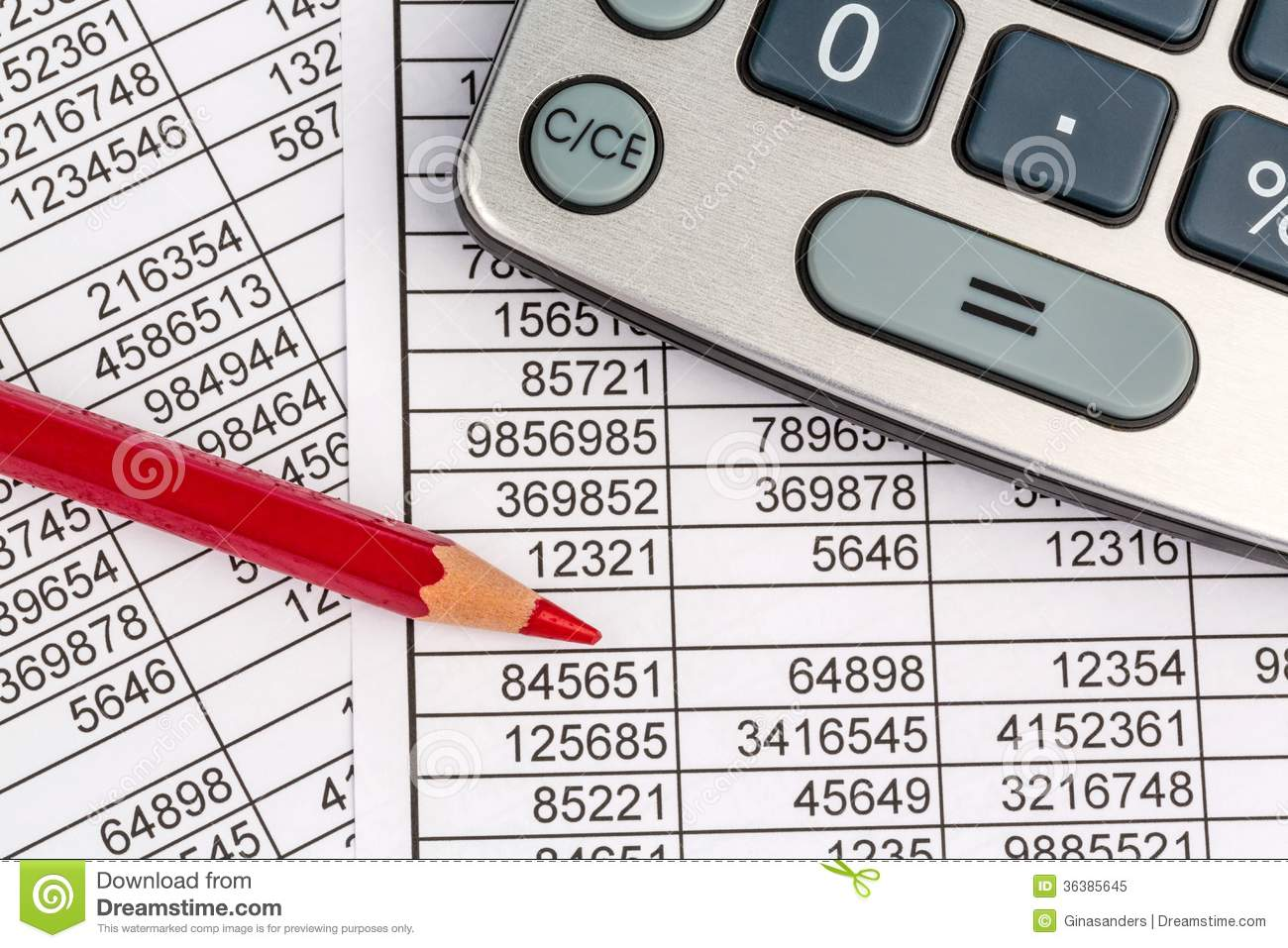 Calculators And Statistk Royalty Free Stock Photo.