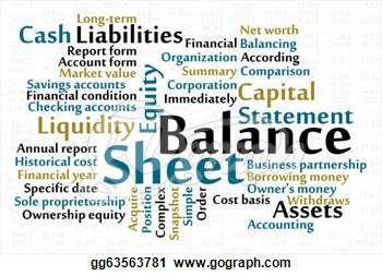 Balance sheet clipart.