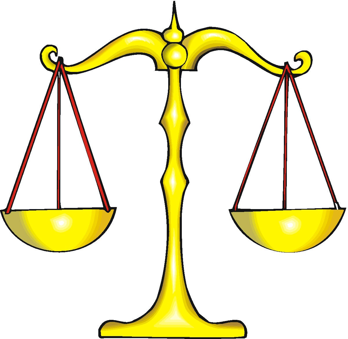 Balanced scales clipart.