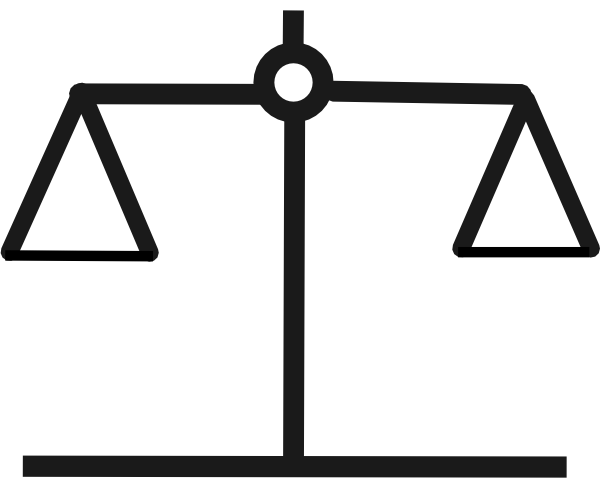 Balance Scale Object In Clipart.