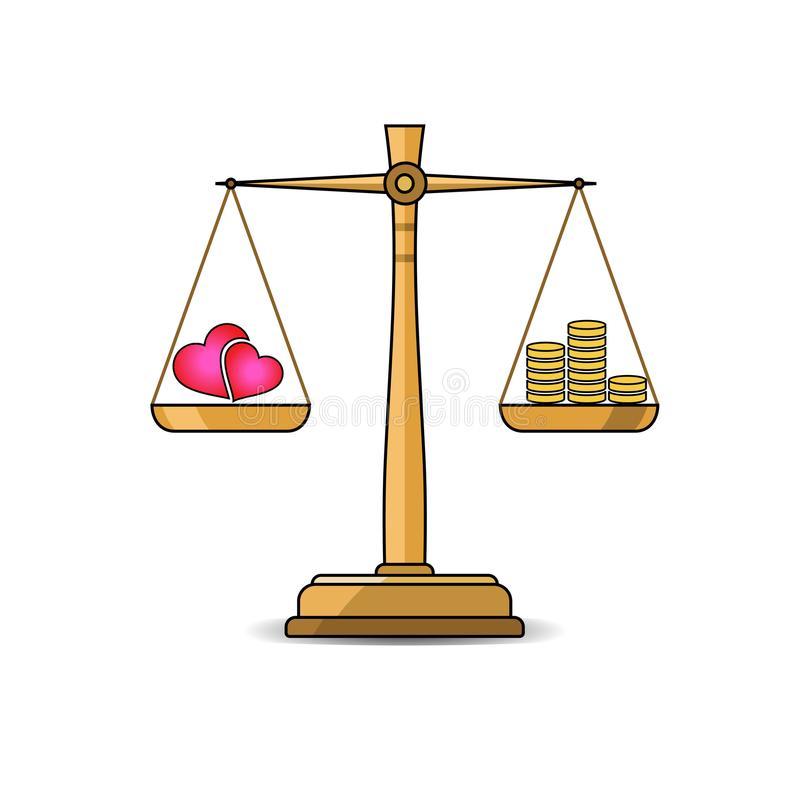 Balanced Scales Stock Illustrations.