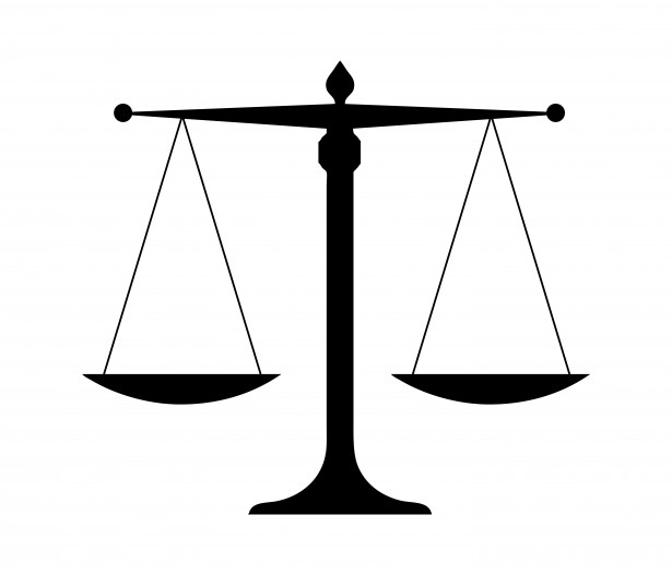 Balanza De Justicia Vector.