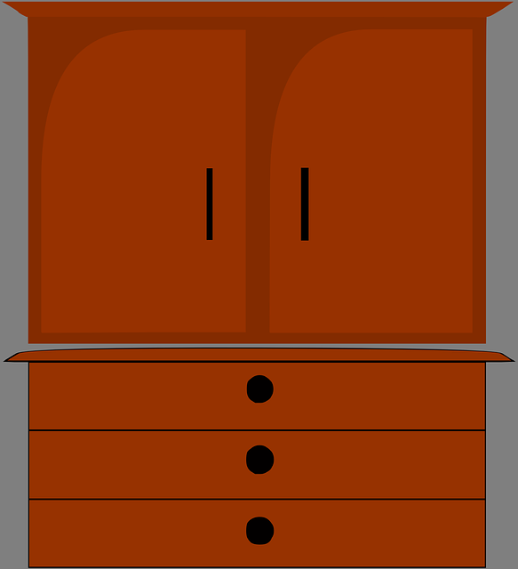 Free vector graphic: Furniture, Dresser, Cupboard.