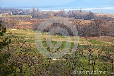 Lake Balaton In Winter Time,Tihany Royalty Free Stock Photo.