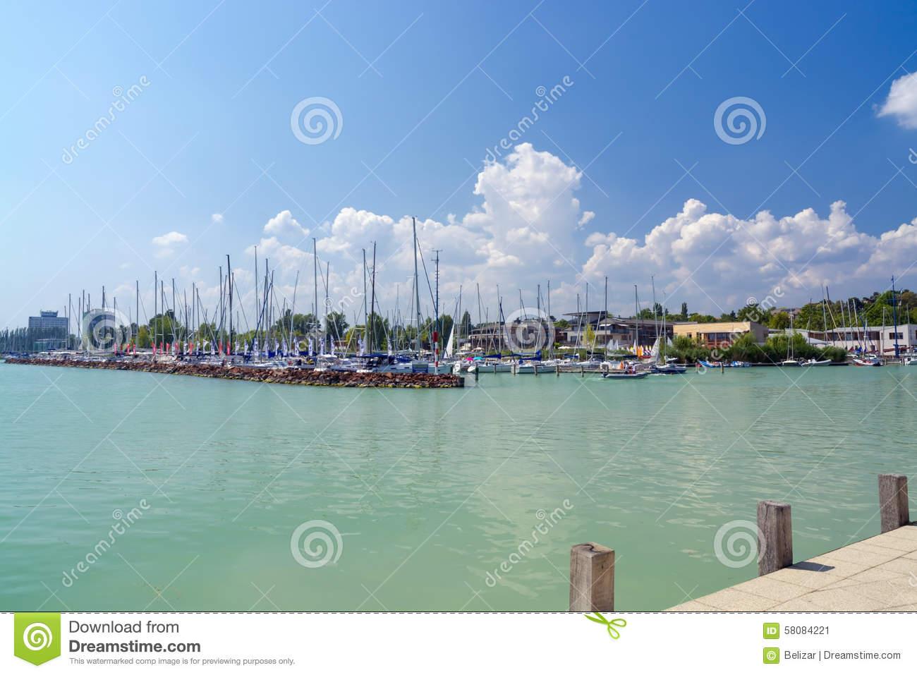 Port Of Balatonfured Editorial Photo.