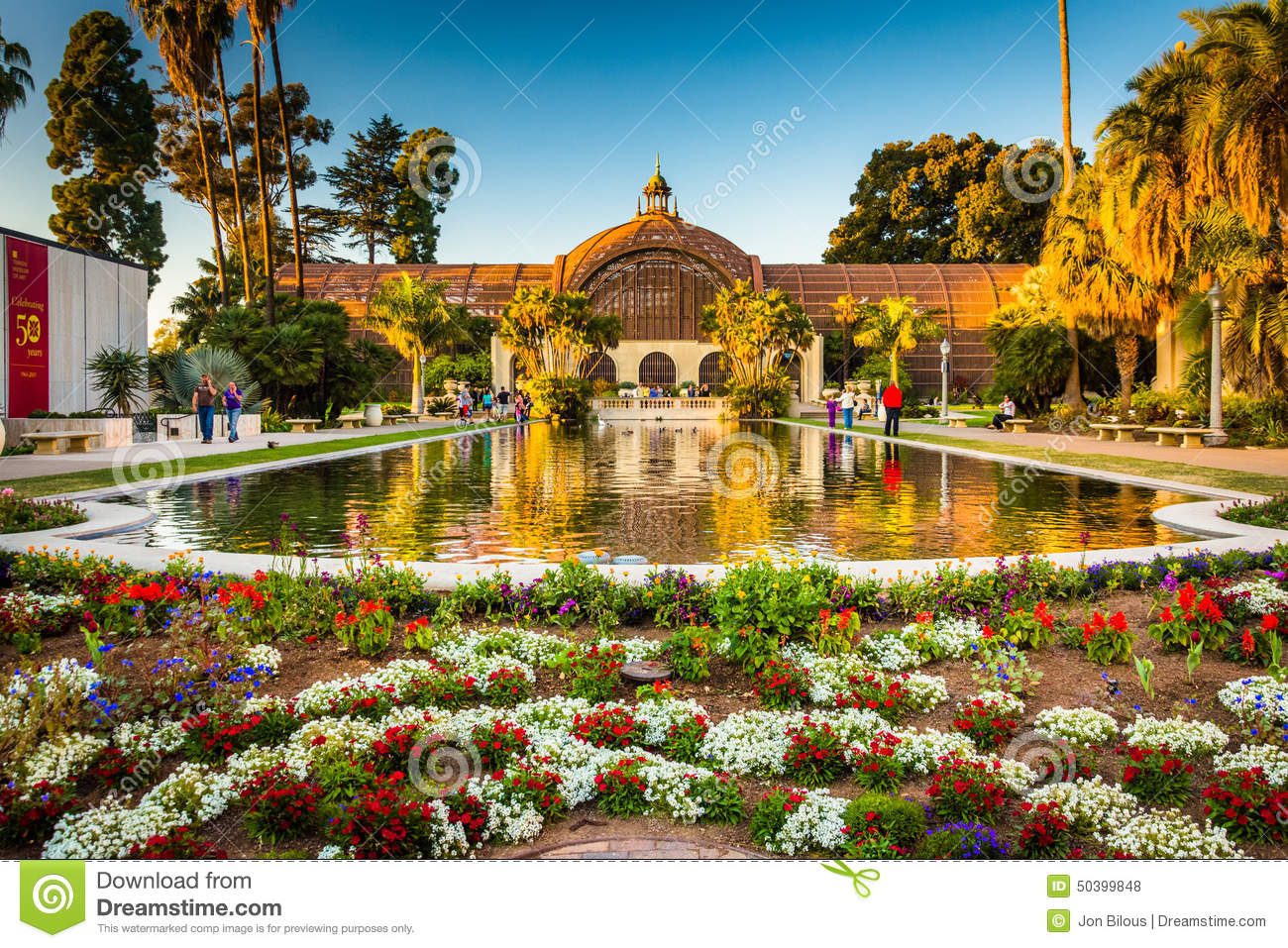 The Botanical Building And The Lily Pond, In Balboa Park.