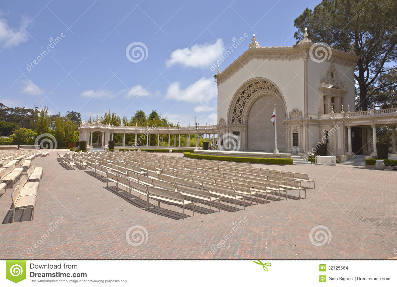 Balboa Park Outdoor Concert And Theater California. Stock Images.