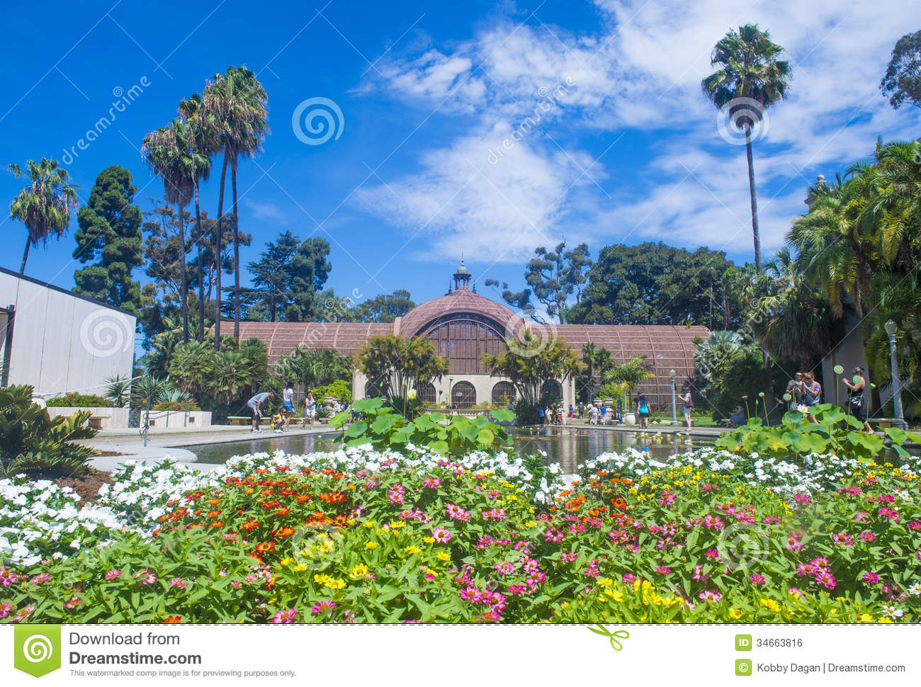 The Botanical Building In San Diego's Balboa Park Editorial Photo.