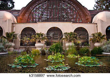 Picture of Conservatory of Flowers, Balboa Park, San Diego, CA.