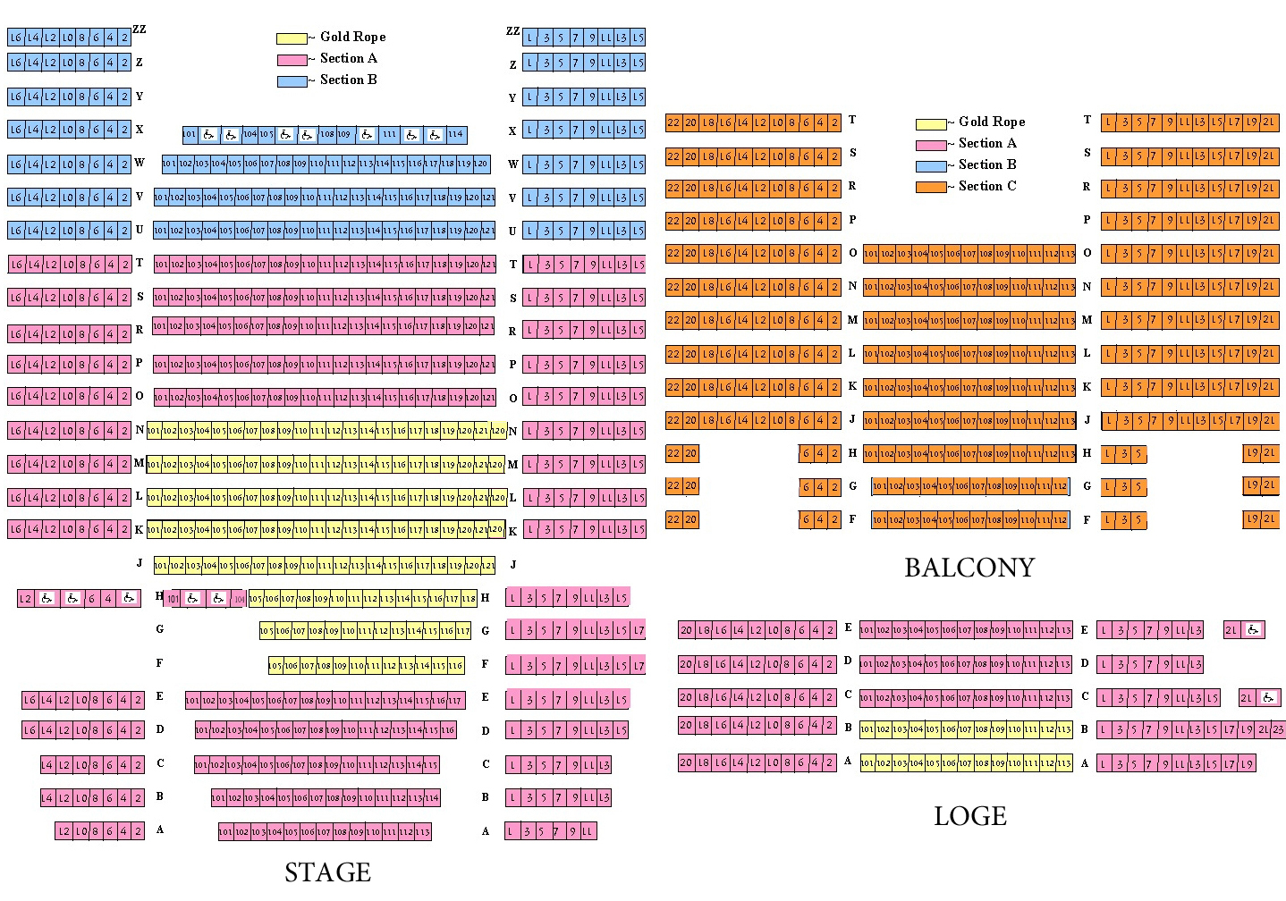 Balboa Theatre San Go Tickets Schedule Seating Charts