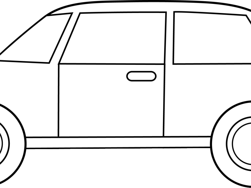 Best Car Clipart Black And White #13213.