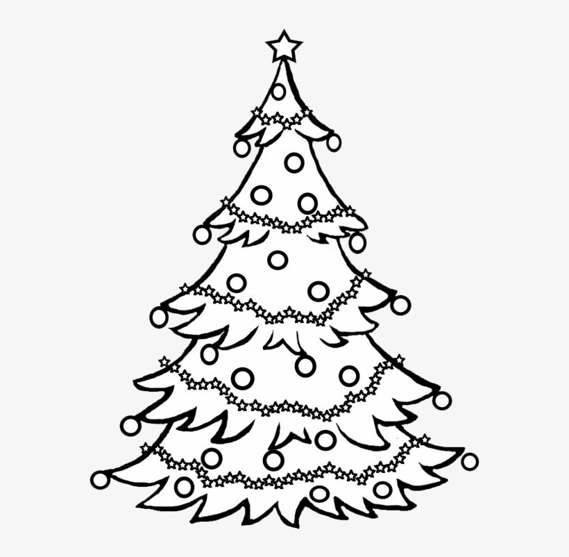 Pine Tree Clipart Black And White / Christmas Tree.