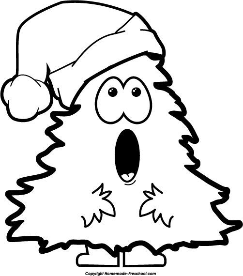 Christmas black and white clip art free christmas black and.