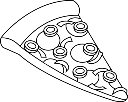 Pizza Clipart Black And White & Pizza Black And White Clip Art.
