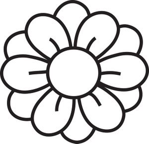 Hawaiian Flower Clip Art Black And White.