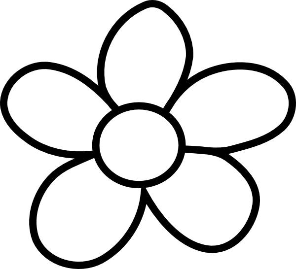 Free Flower Clipart Black And White, Download Free Clip Art.
