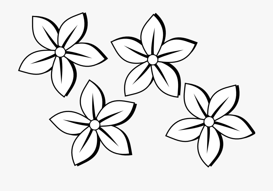 Flowers Clipart Images Black And White.