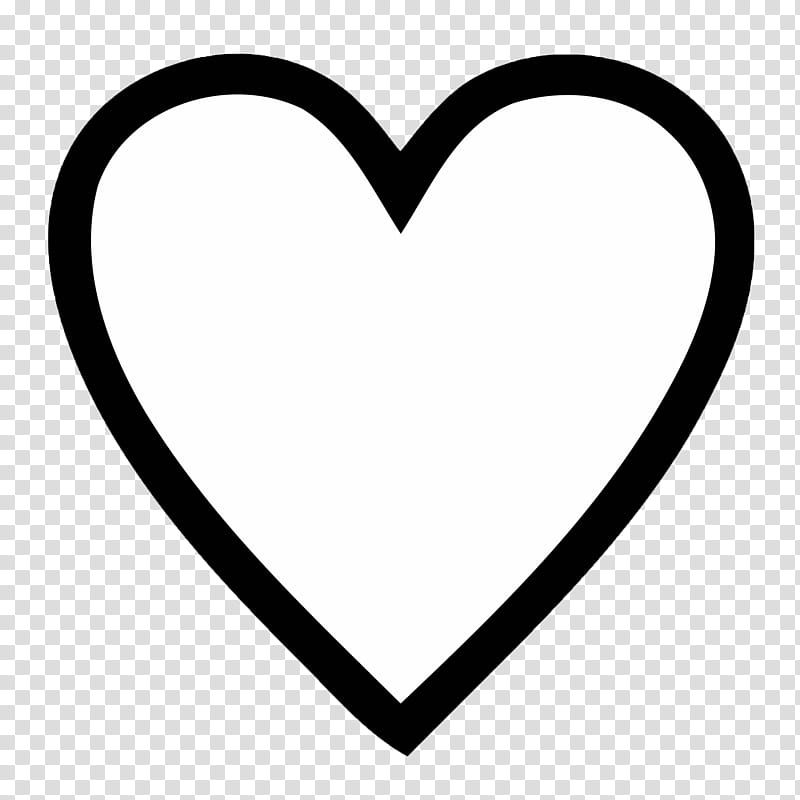White heart transparent background PNG clipart.