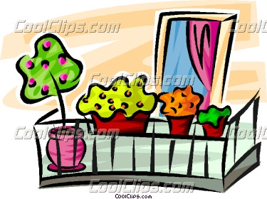 Balcony plant clipart clipground for Balcony clipart
