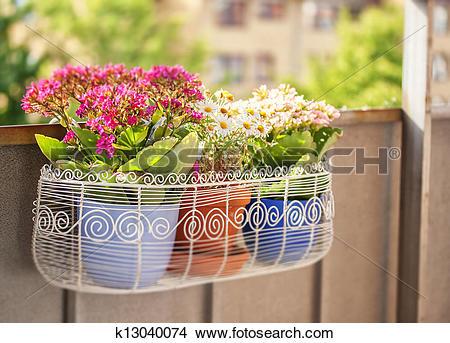 Stock Photo of Balcony flower box k13040074.