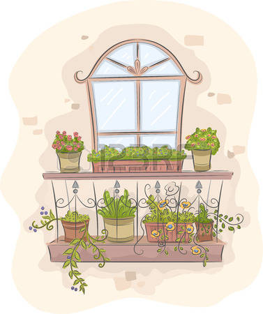 452 Balcony Flowers Stock Vector Illustration And Royalty Free.