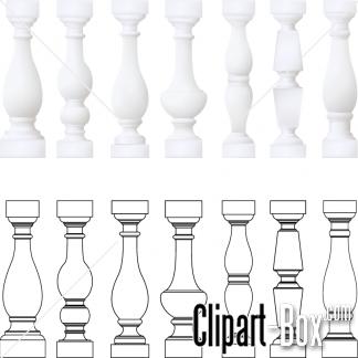 CLIPART BALCONY ELEMENTS.