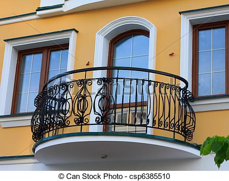 Flower Balcony Illustration