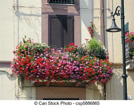 Stock Images of Balcony drowned in flowers!.