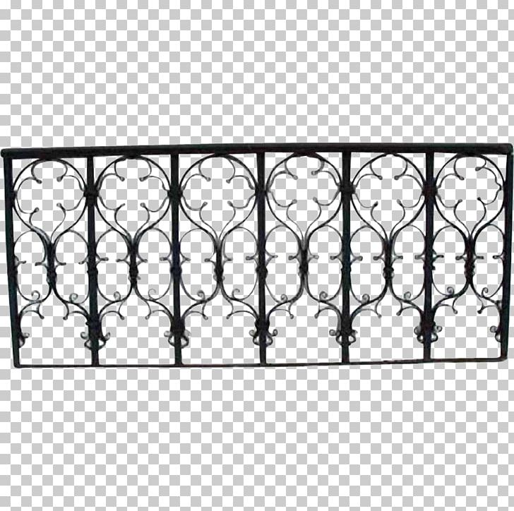 Wrought Iron Balcony Grille Gothic Revival Architecture PNG.