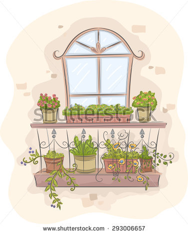Plants in a balcony clipart clipground for Balcony clipart