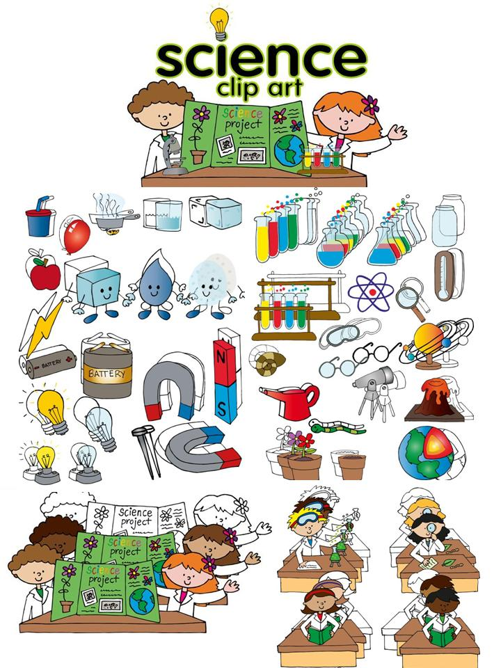 Science clip art set.