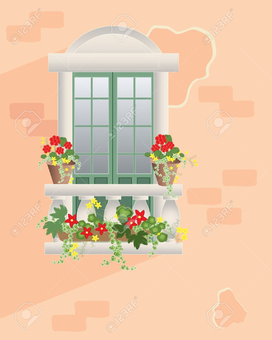 Balcony plant clipart clipground for Balcony cartoon