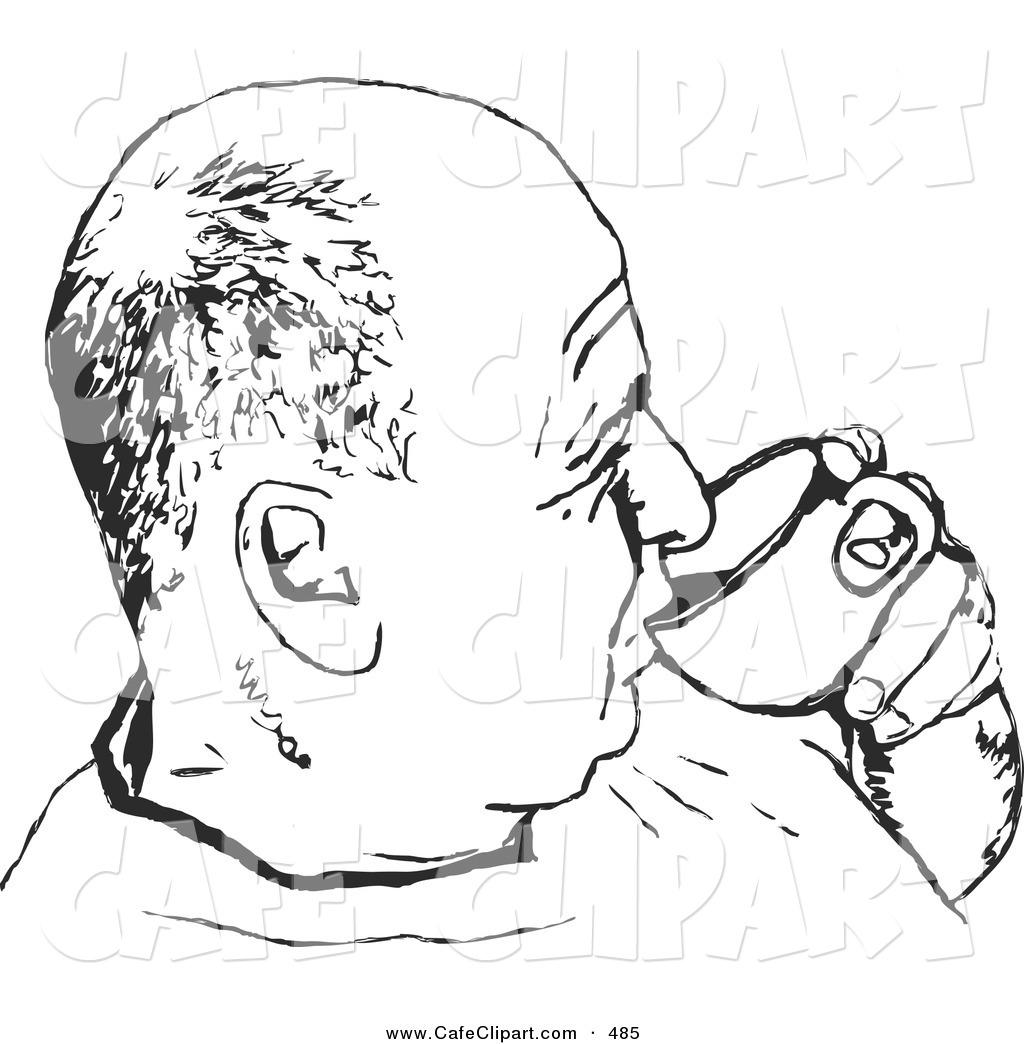 Bald Man Clipart.