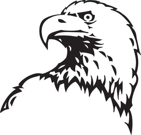 Bald eagle clipart black and white 1 » Clipart Station.