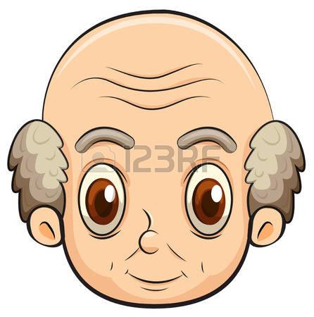 Bald head clipart #4