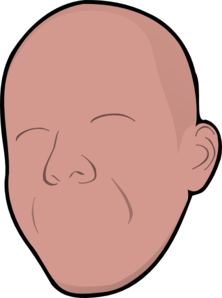 Bald Without Face Clip Art at Clker.com.
