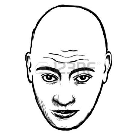 Bald head clipart #3