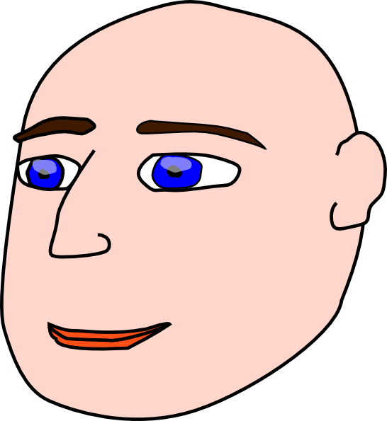 Bald Man Clipart.