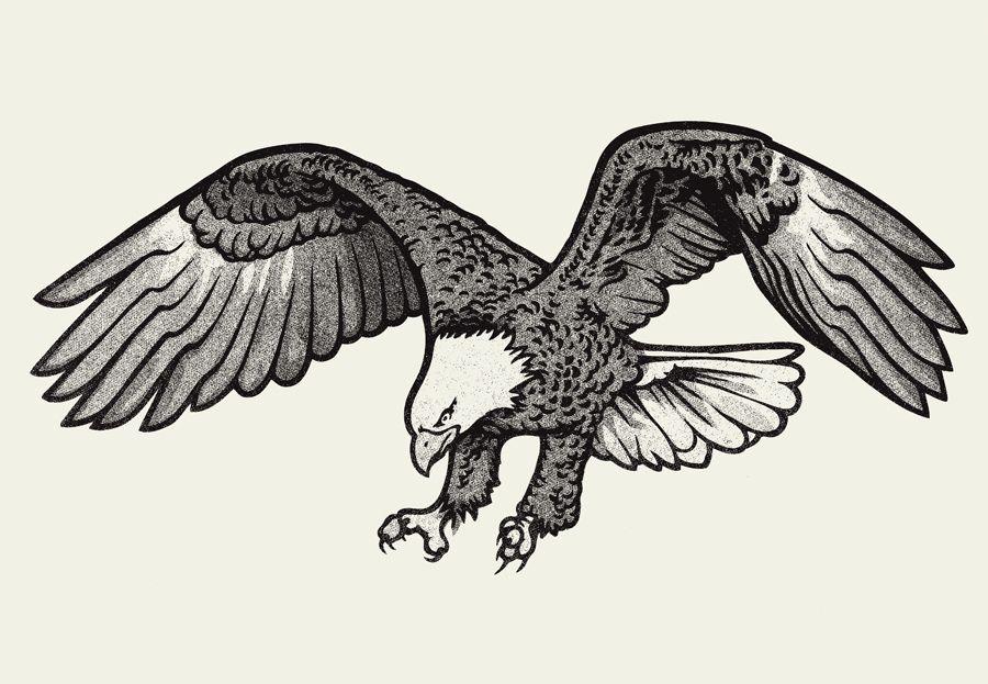 Bald Eagle Clip Art Black and White.