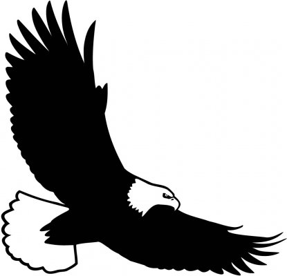 eagle clipart black and white bald eagle flying clipart.