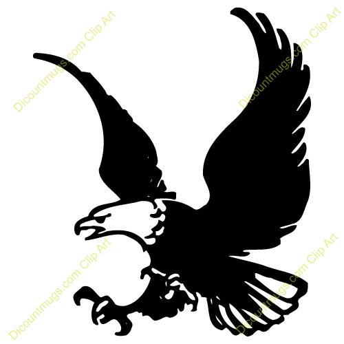 Flying bald eagle clipart.