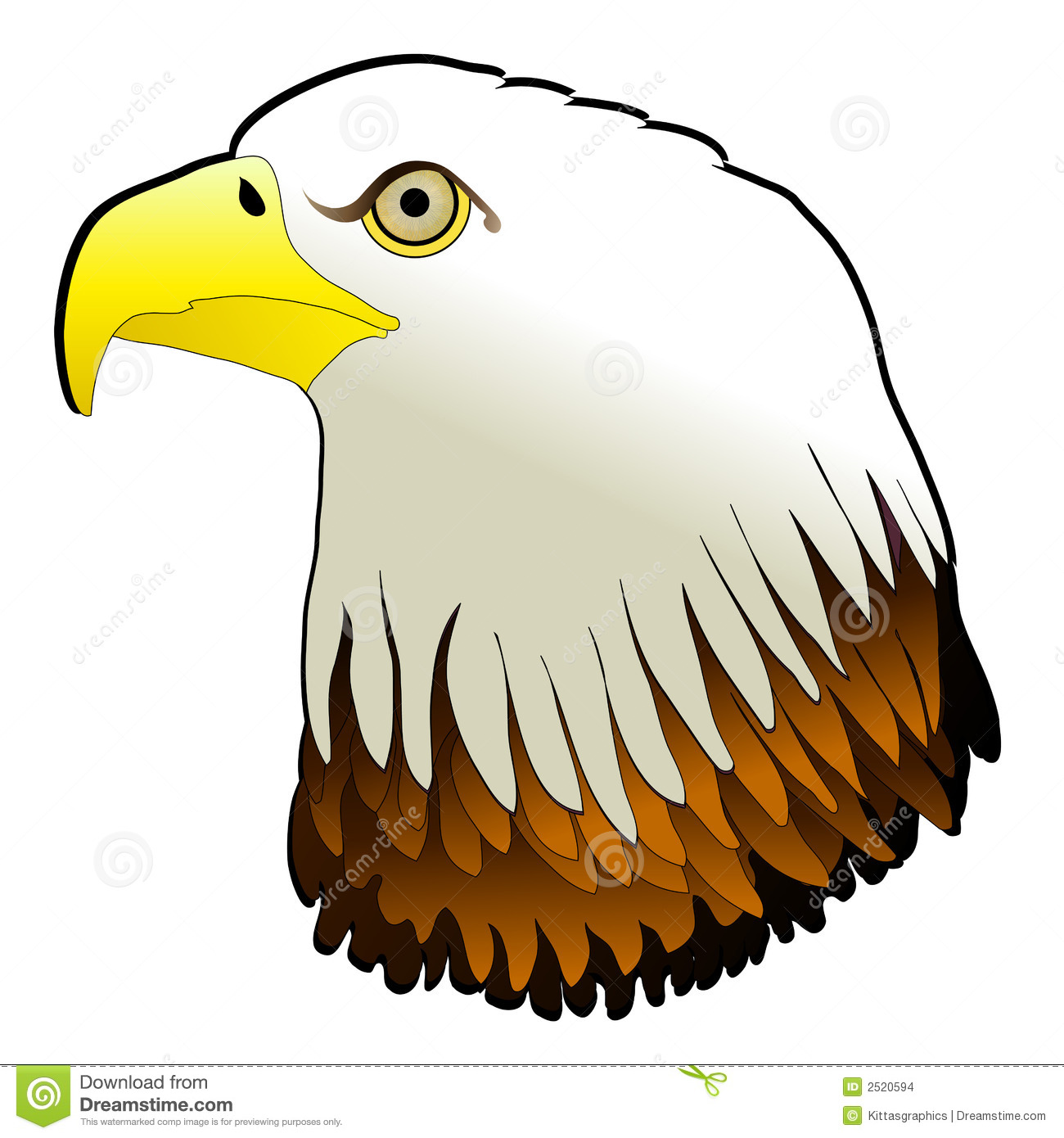 Clipart of bald eagle.