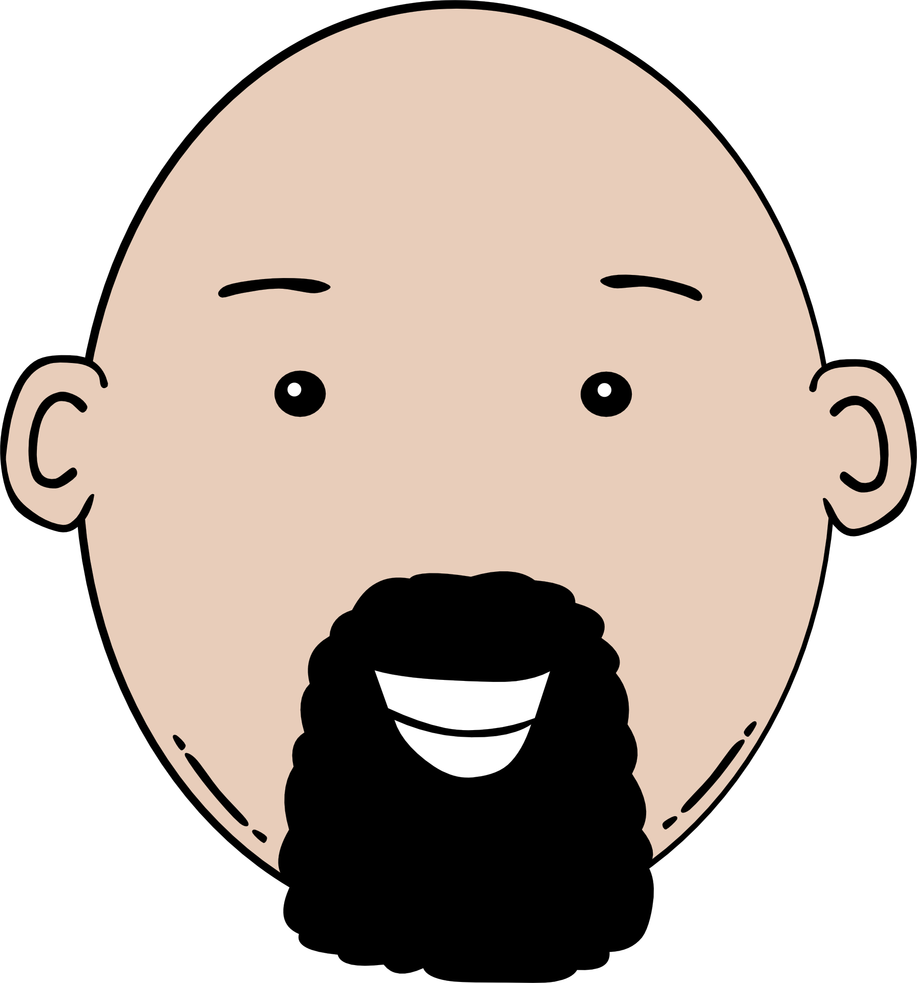 Man Face Cartoon Clip Art.