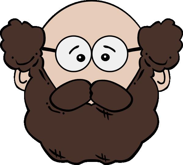 Balding Man With Mustache And Beard Clip Art at Clker.com.