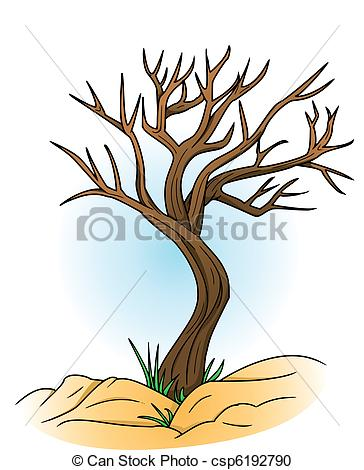 Vector Clipart of bald tree csp6192790.