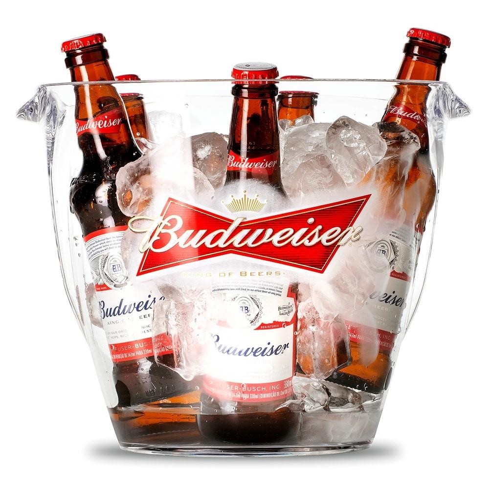 Balde de Gelo Budweiser 7,6 Litros.