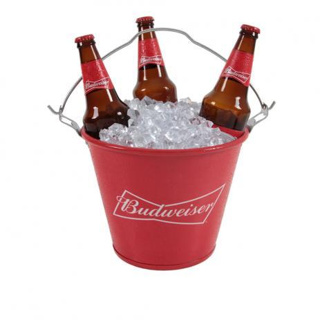 Balde de Gelo Budweiser em Alumínio 8177.