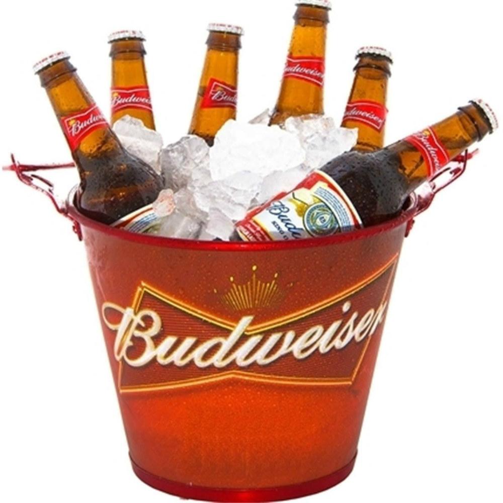 Balde de Gelo em Alumínio Budweiser Doctor Cooler.
