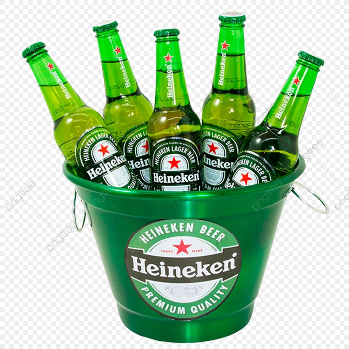 Balde Heineken, Png, Balde, Long Neck PNG Transparent Clipart Image.