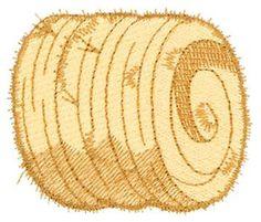 Round hay bales clipart.